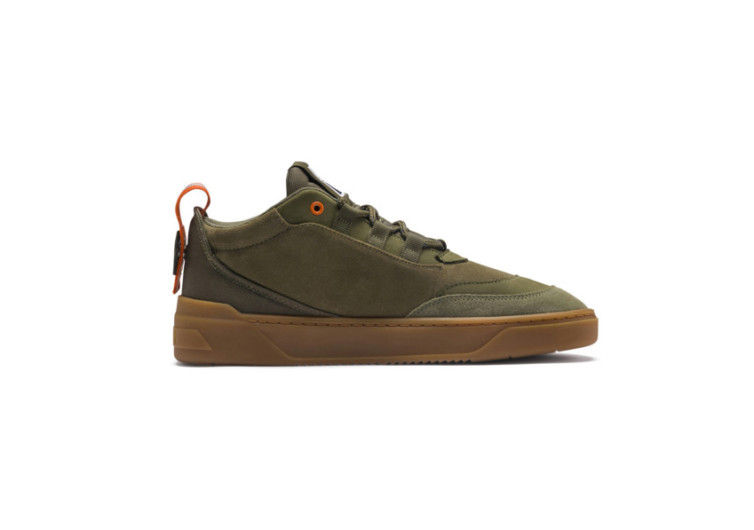 puma cali zero demi army green sneakers