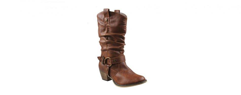 refresh women's wild-02 western style cowboy boots