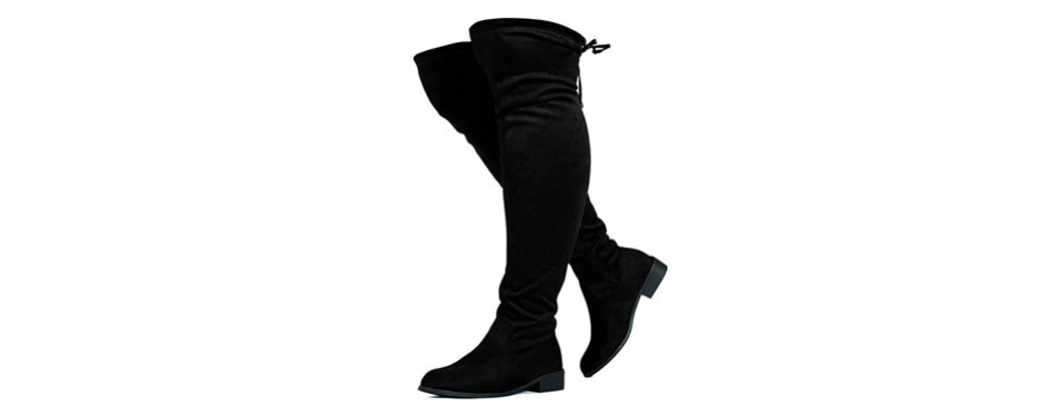 rf room of fashion women's stretchy over knee riding boots