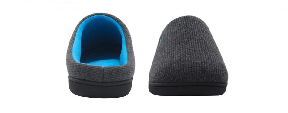 rockdove men's original two-tone memory foam slipper