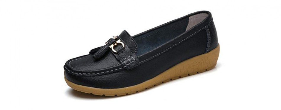 rvrovic leather oxford slip-on boat shoes