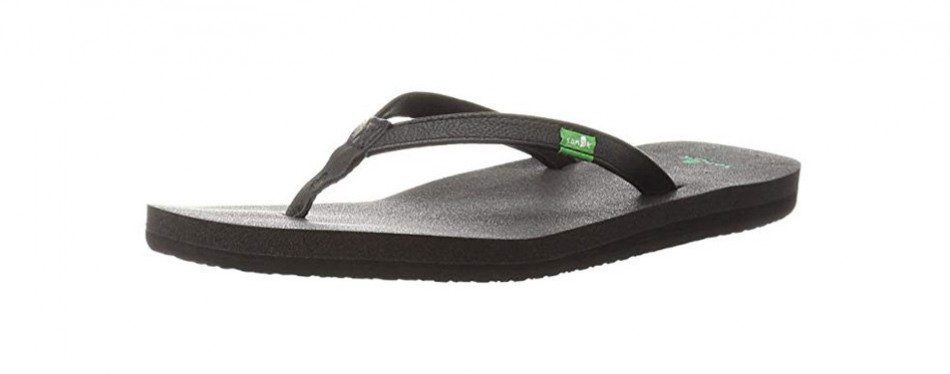 sanuk women's yoga joy flip-flop