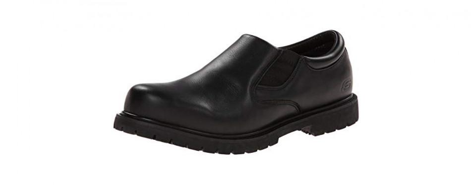 skechers for work men's cottonwood goddard slip-resistant slip-on