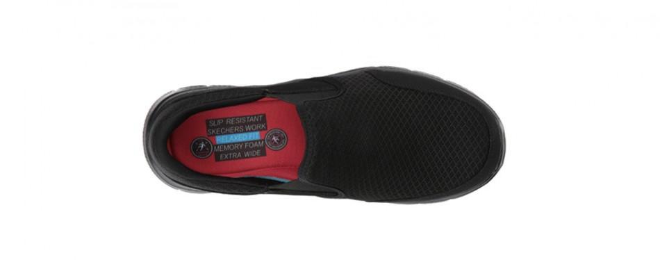 skechers for work men's flex advantage slip resistant shoes