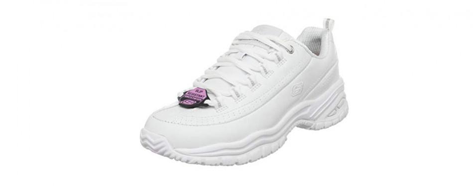 skechers non slip shoes memory foam