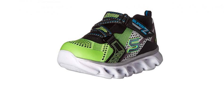 skechers hypno flash z strap light-up sneaker