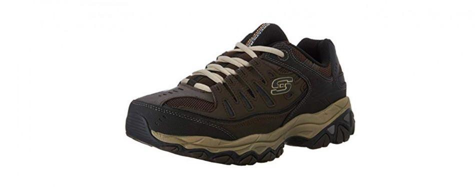 skechers men's afterburn memory foam lace-up sneakers