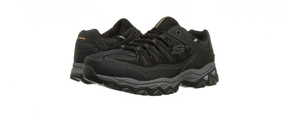skechers men's afterburn lace-up sneaker
