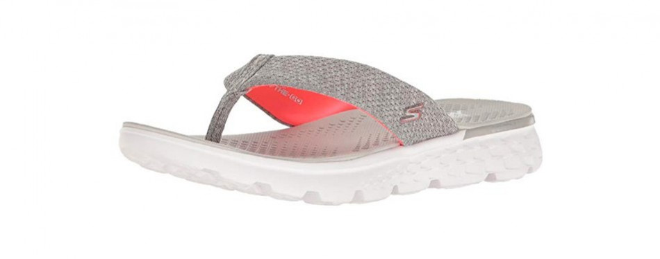skechers performance women's on the go 400 vivacity flip flops
