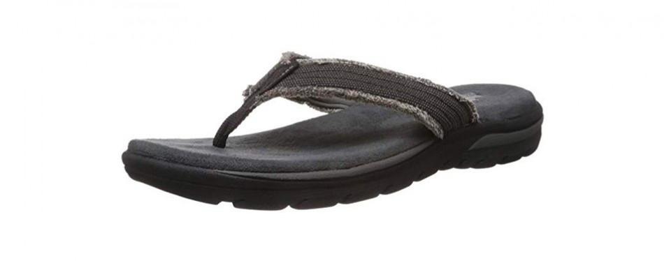 skechers usa men's bosnia flip-flop