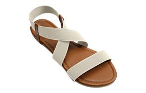 soles & souls elastic ankle strap flat sandal