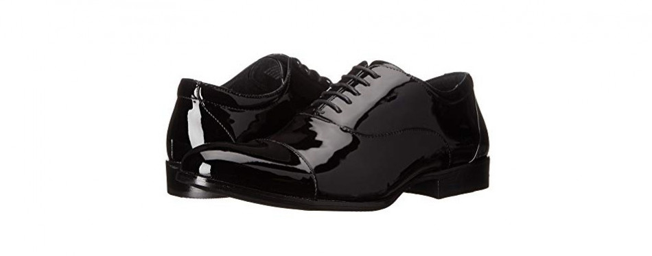 stacy adams men's gala cap-toe tuxedo lace-up oxford shoe
