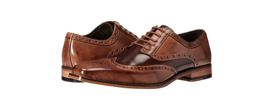 stacy adams tinsley wingtip lace-up oxford shoes