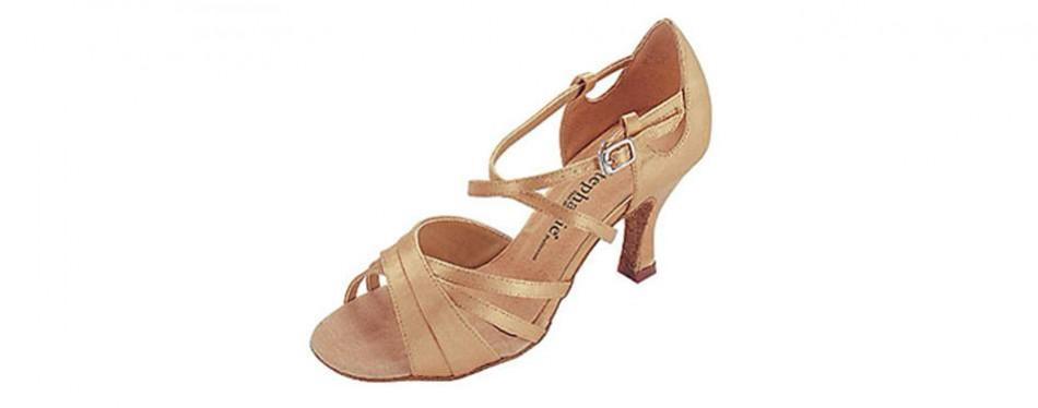 stephanie tan satin latin ballroom dance shoe