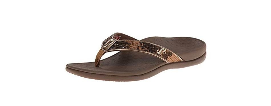 vionic tide sequins toe post sandal