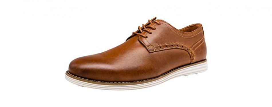 vostey men's leather brogue shoes