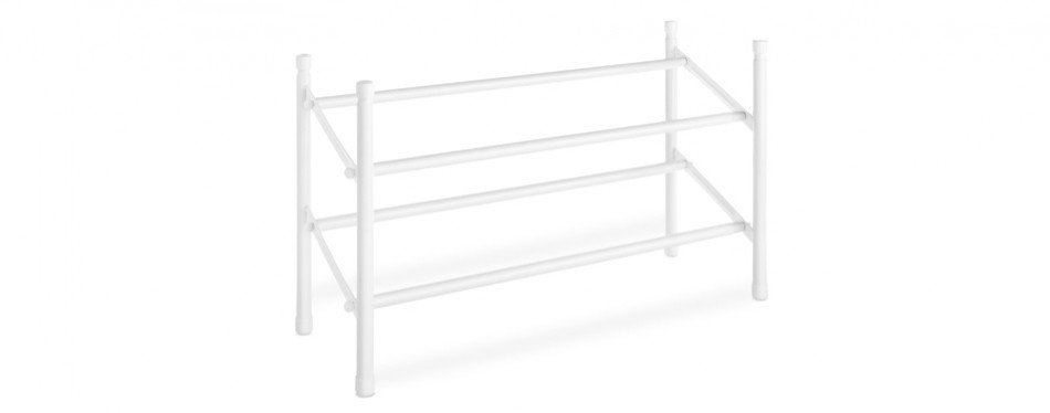 whitmor 2-tier expandable and stackable shoe rack