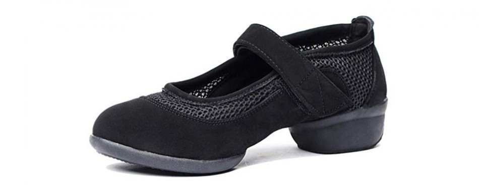 women's breathable mesh jazz dance shoes