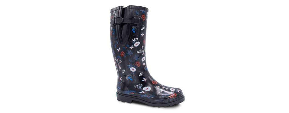 zoogs extra wide rubber rain boots